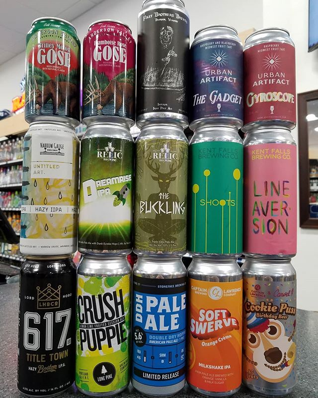 Lots of fresh cans this week, including our first hoppy offerings from @kentfallsbrewing as well as the debut of  @urbanartifactbeer with some killer fruited sours.