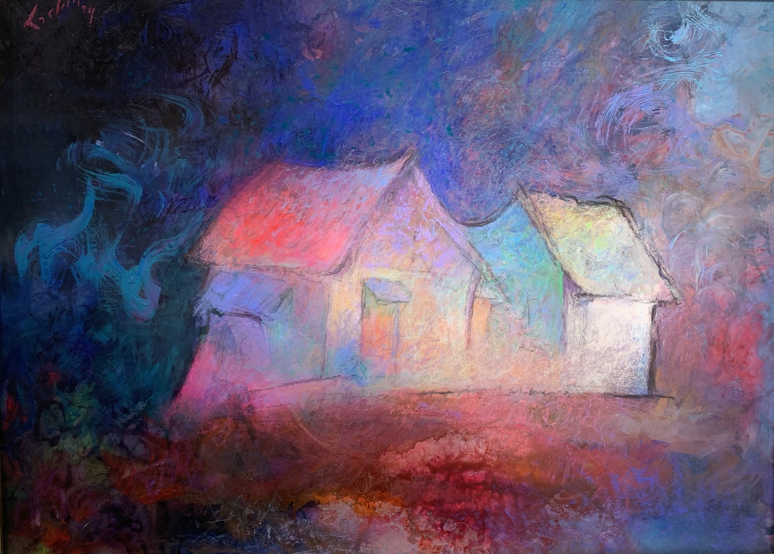 CUTTALOSSA FARM   Acrylic and Pastel, 24 x 30   Available