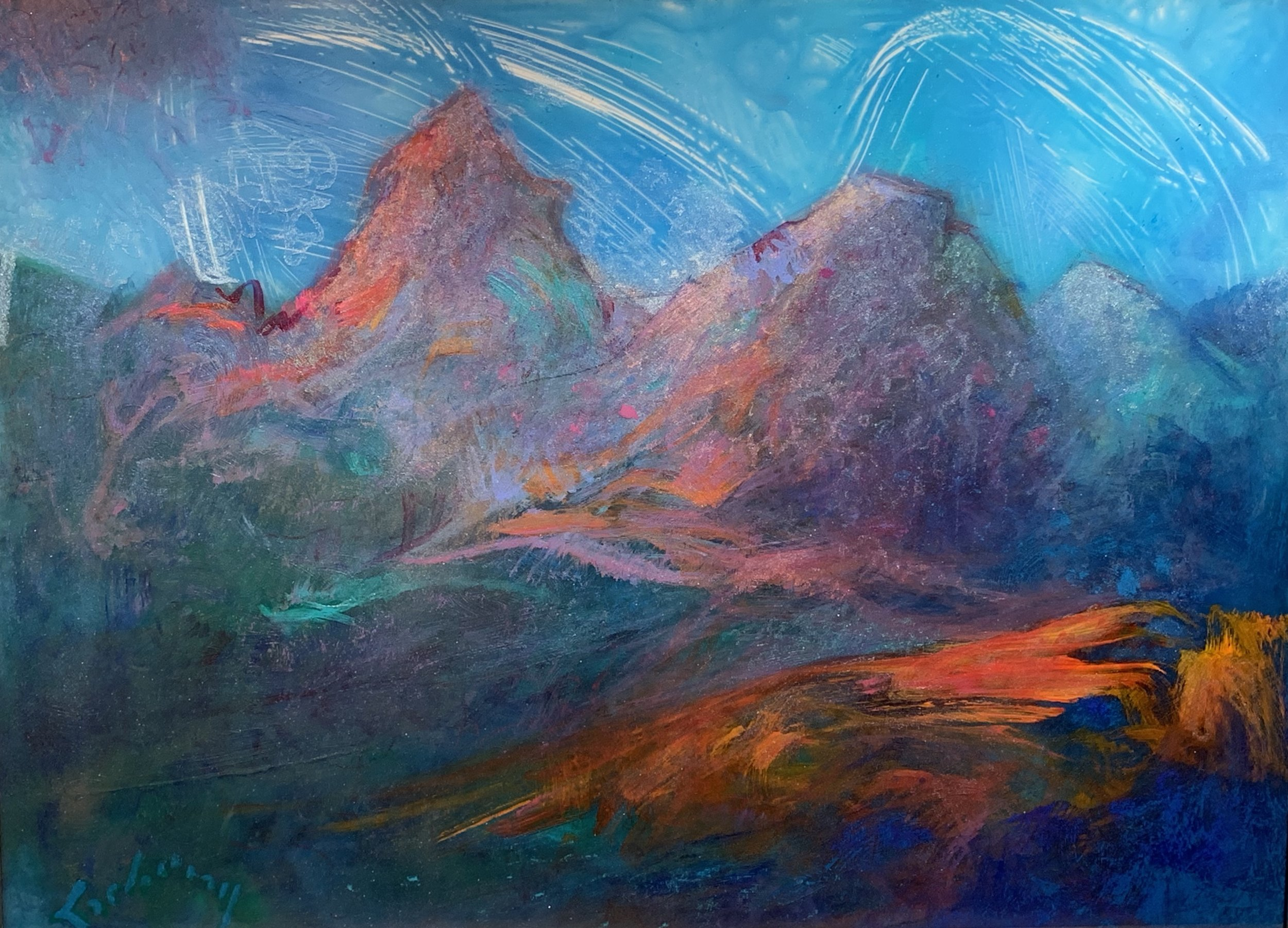 LAND OF DREAMS   Acrylic and Pastel, 24 x 30   Available
