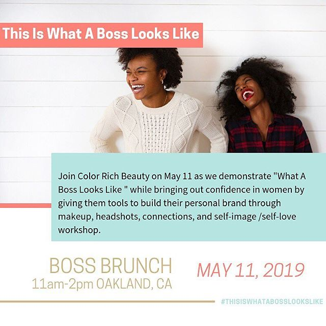 Time to Boss up!!! #thisiswhatabosslookslike hosted by @colorrichbeauty come join these amazing women and build your personal brand, network, headshots, and self-Love. When woman collaborate magic happens ⭐️⭐️⭐️⭐️⭐️⭐️⭐️⭐️⭐️⭐️🌟