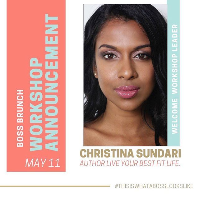 @colorrichbeauty 🗣ANNOUNCEMENT . Its official Christina @classtige will be joining us at This Is What A Boss Looks Like.  She will be leading a  #motivational meditation to get our minds and bodies loosened up and ready for our photo shoots. . Christina Sundari is a fitness model, coach, influencer & author of 'Live Your Best Fit Life.' She believes that 'being fit' is a lifestyle choice, and is a balance between physical, mental, and emotional health. .  This event will have mini-makeovers with #makeup artists and photoshoots with professional #photographers PLUS brunch and drinks, networking with other ladies, and confidence-boosting talks and #workshops. (Yeah, it's going to be awesome!