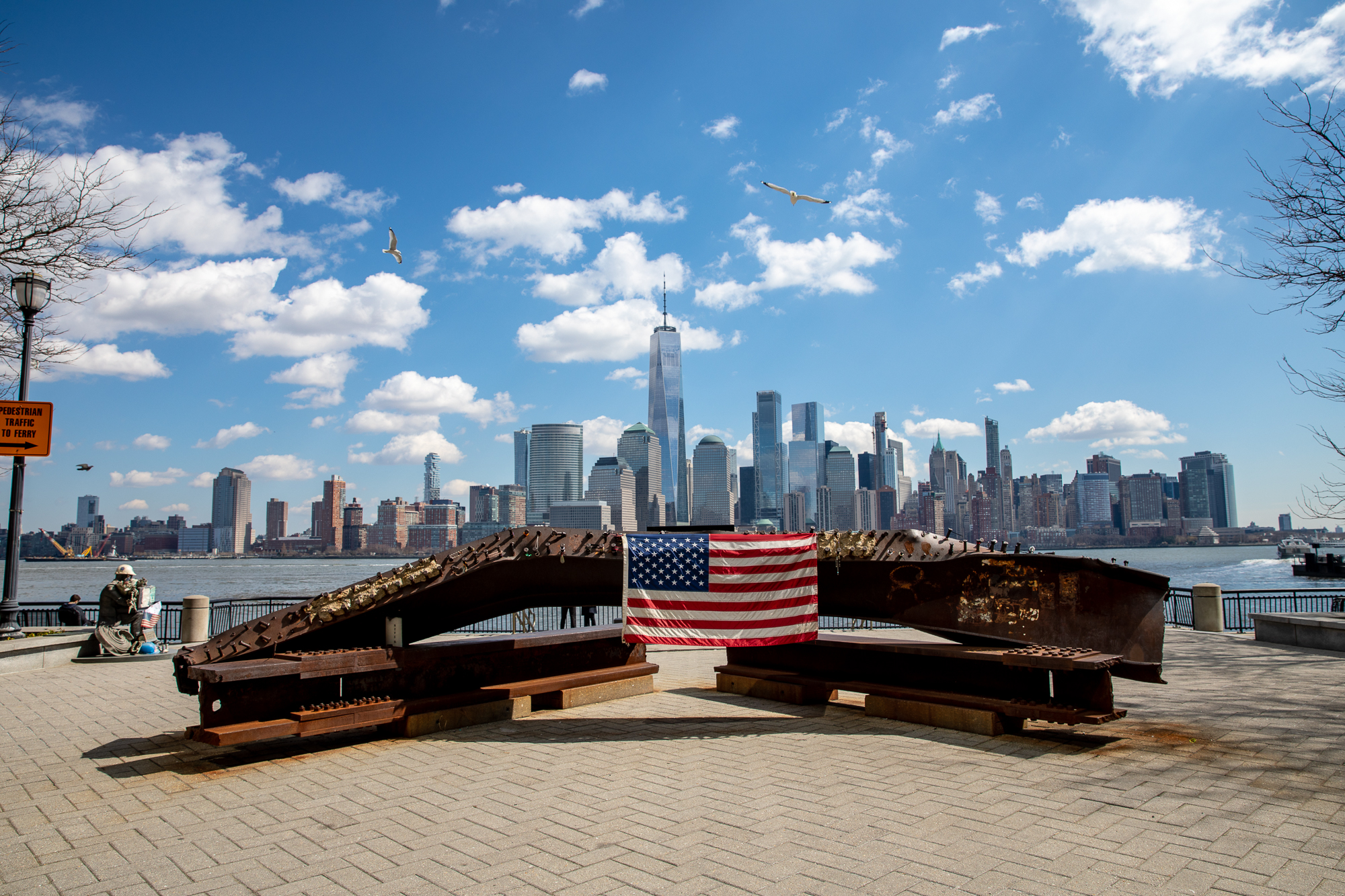 "#14 Jersey City Sept. 11 ""Makeshift Memorial"""