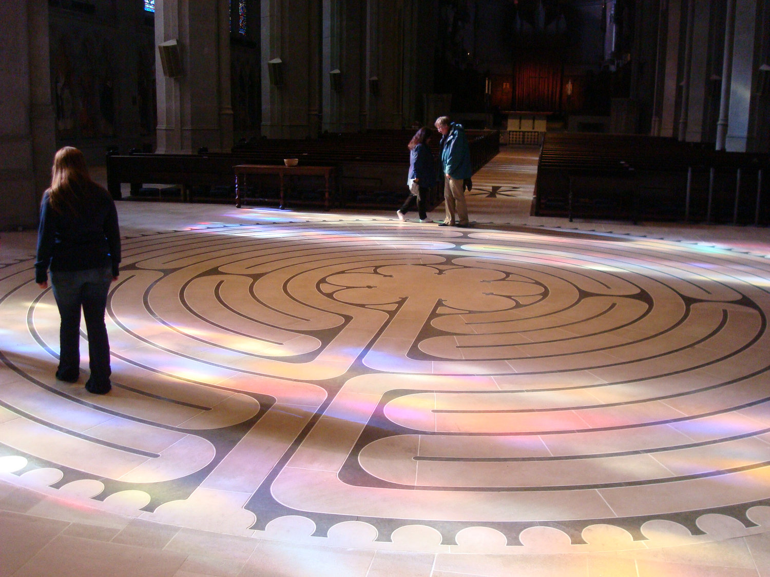 Chartres labyrinth design, Grace Cathedral, San Francisco, CA