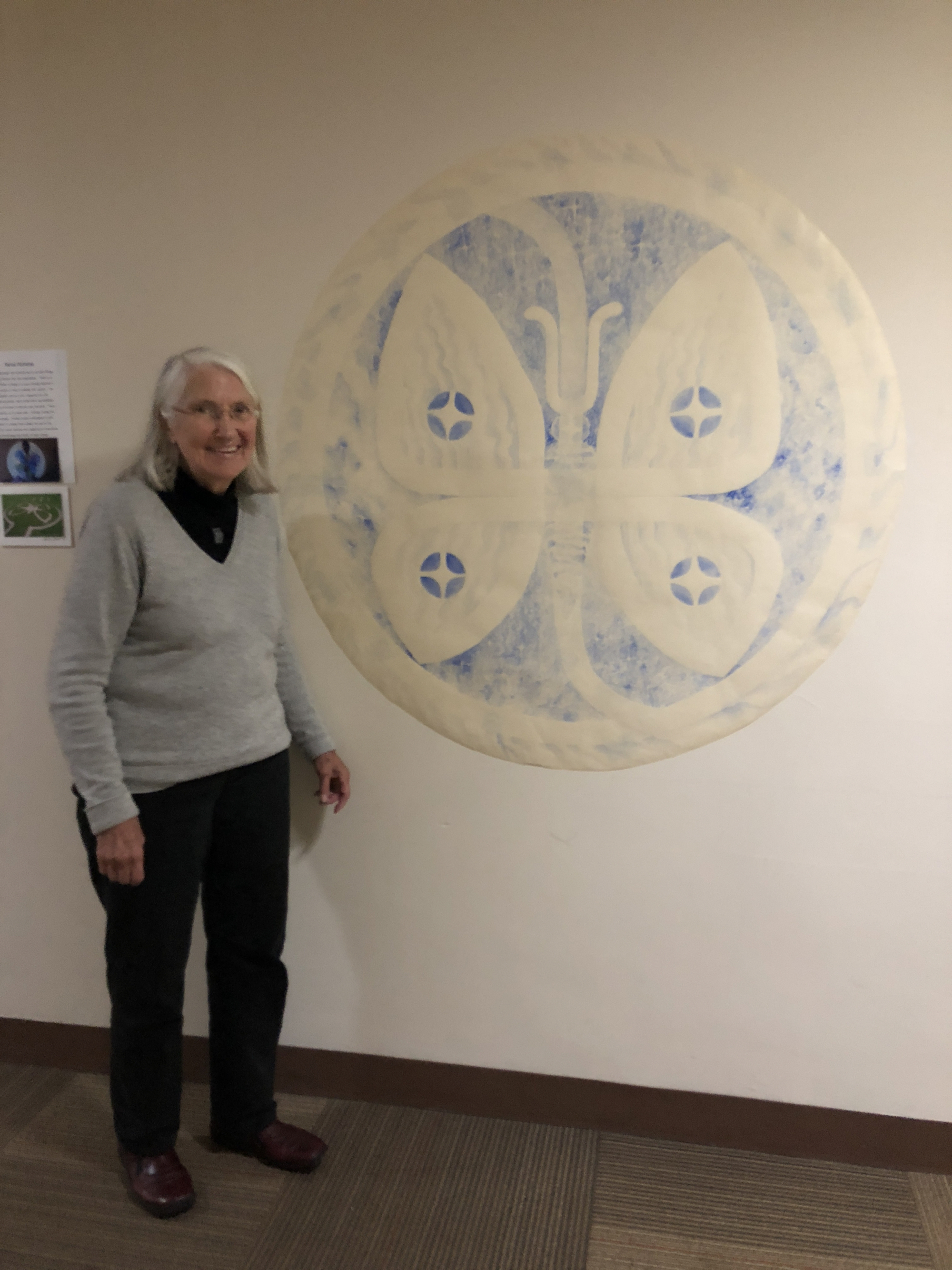 Marilyn Larson with her Butterfly Portal Labyrinth©