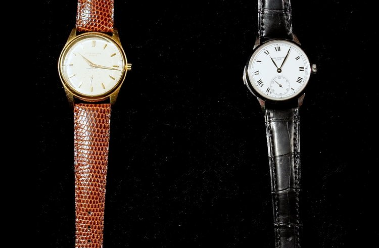 Pictured in brown strap ref.2526 and ref.3979p in black strap.
