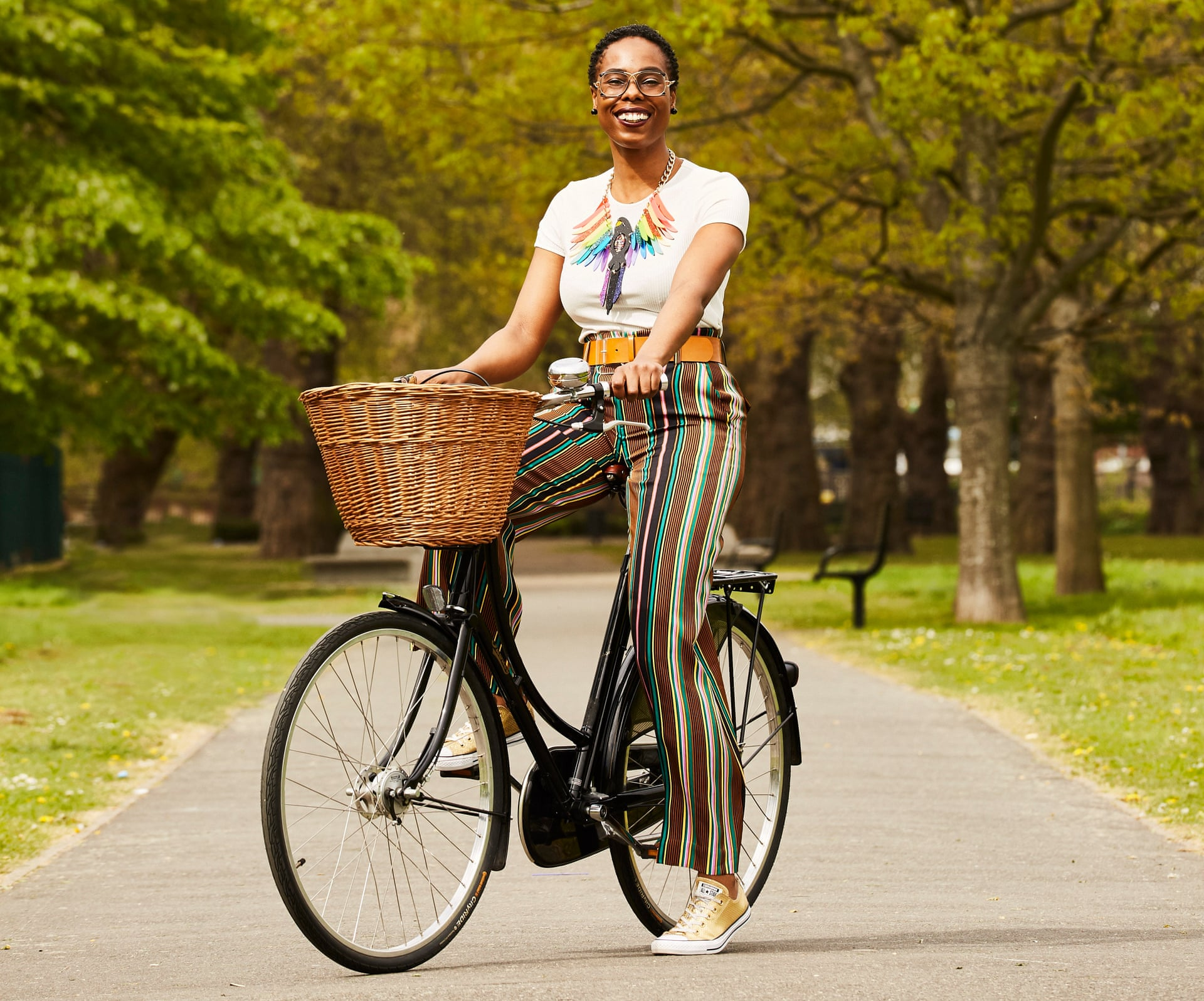 Jools Walker AKA Vélo City Girl. Photograph: Sarah Cresswell/The Observer (12.05.2019)