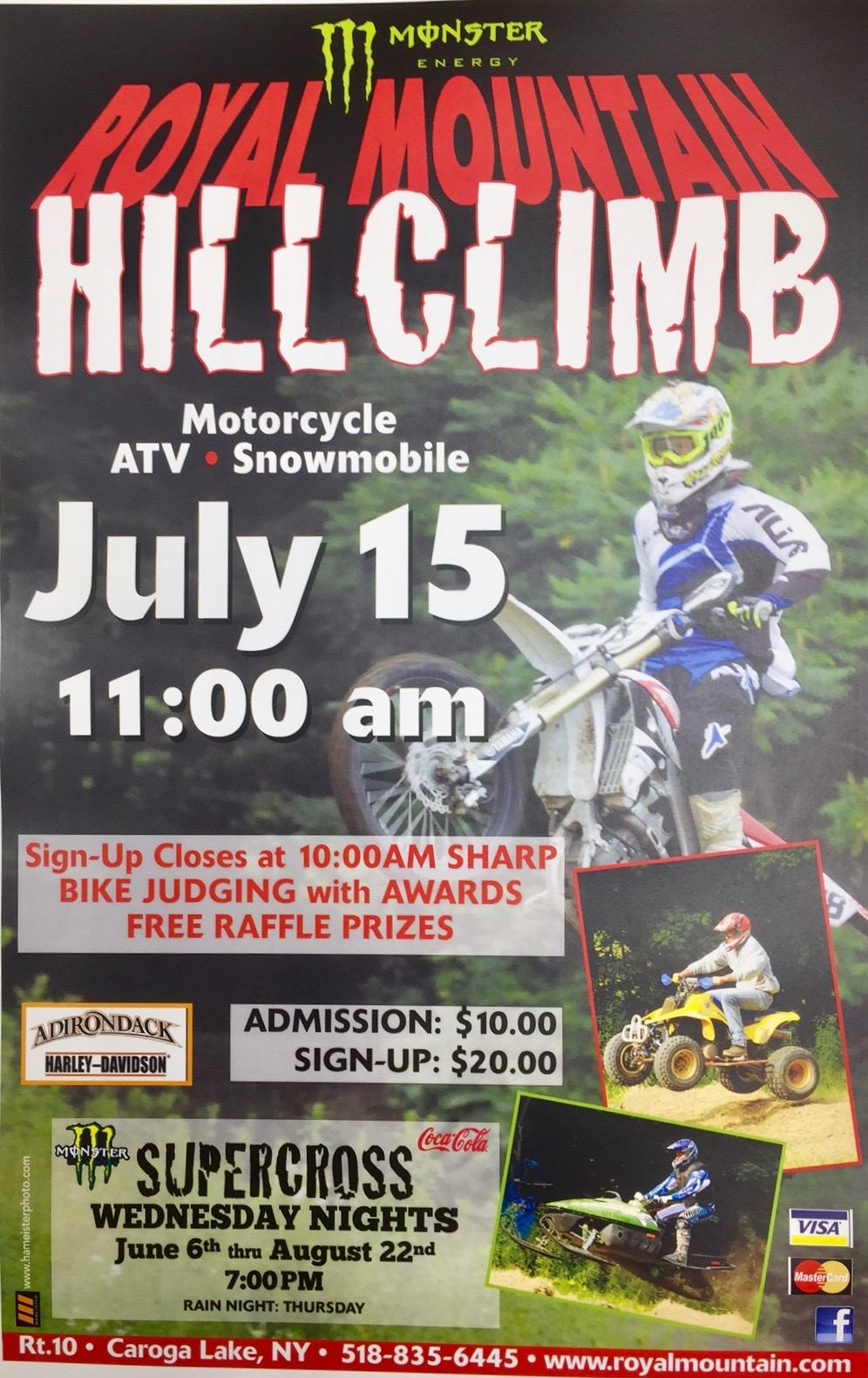 Ad poster for Royal Mountain's Annual Hillclimb event