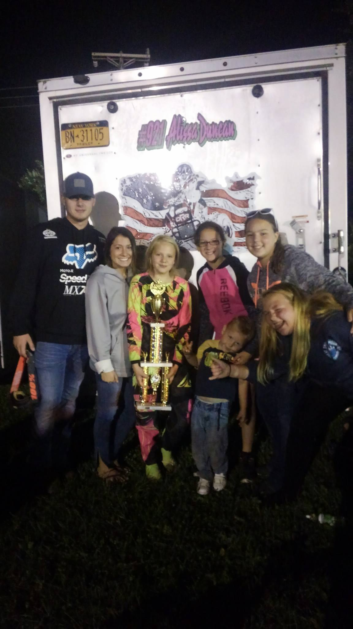 - Team Duncan #921 racing a hard fought championship at Royal Mountain Monster Energy Supercross - Photo credit Team Duncan #921 Racing