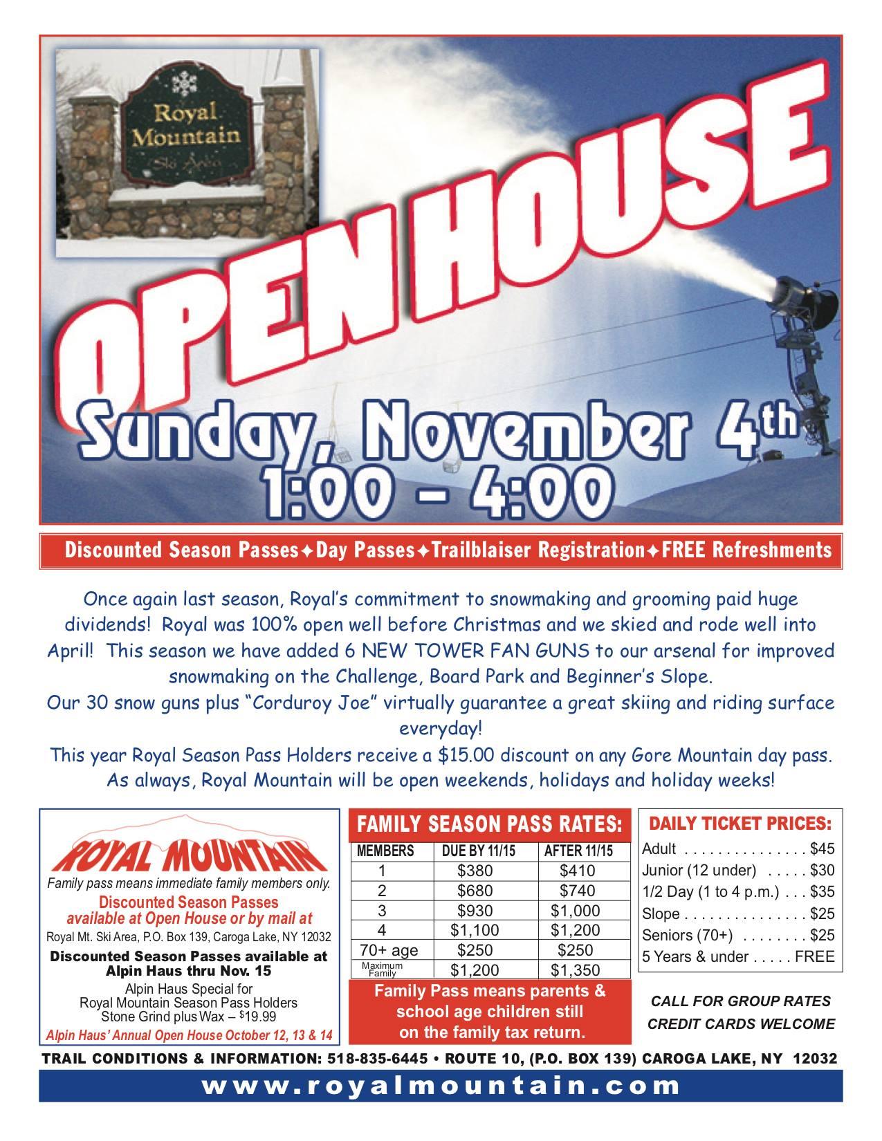 Open House - November 4th