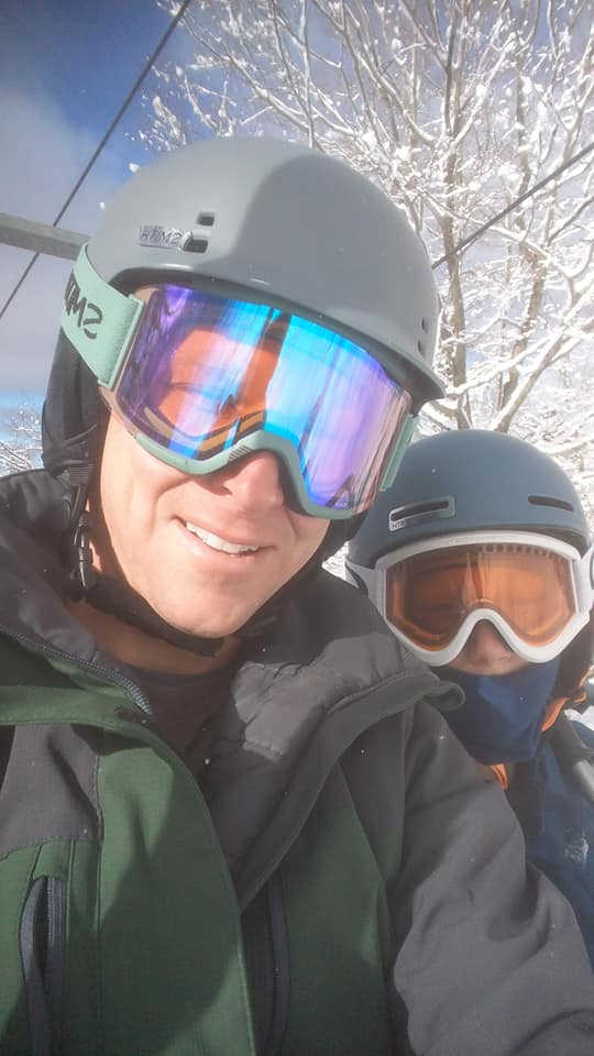 Skiing at it's best - With the family - Photo credit Brian Miller with his son