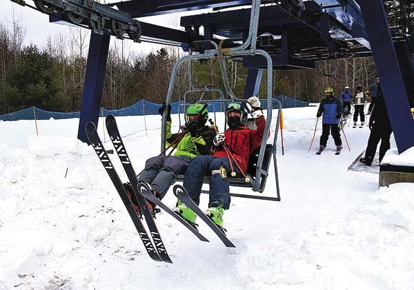 Hayden Z and friends having fun on Opening weekend - Photo credit - James Ellis ~ The Leader Herold