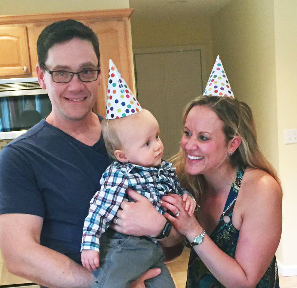 The Hanecak Family: Jay, Owen and Karyn, celebrating Owen's first birthday in May of 2017. On May 6th of this year Owen turns 2 and his treatments for cancer will continue. Our kick-off effort revolves around this family so read on and understand how important YOU are to our dream, but more importantly...to their dream.