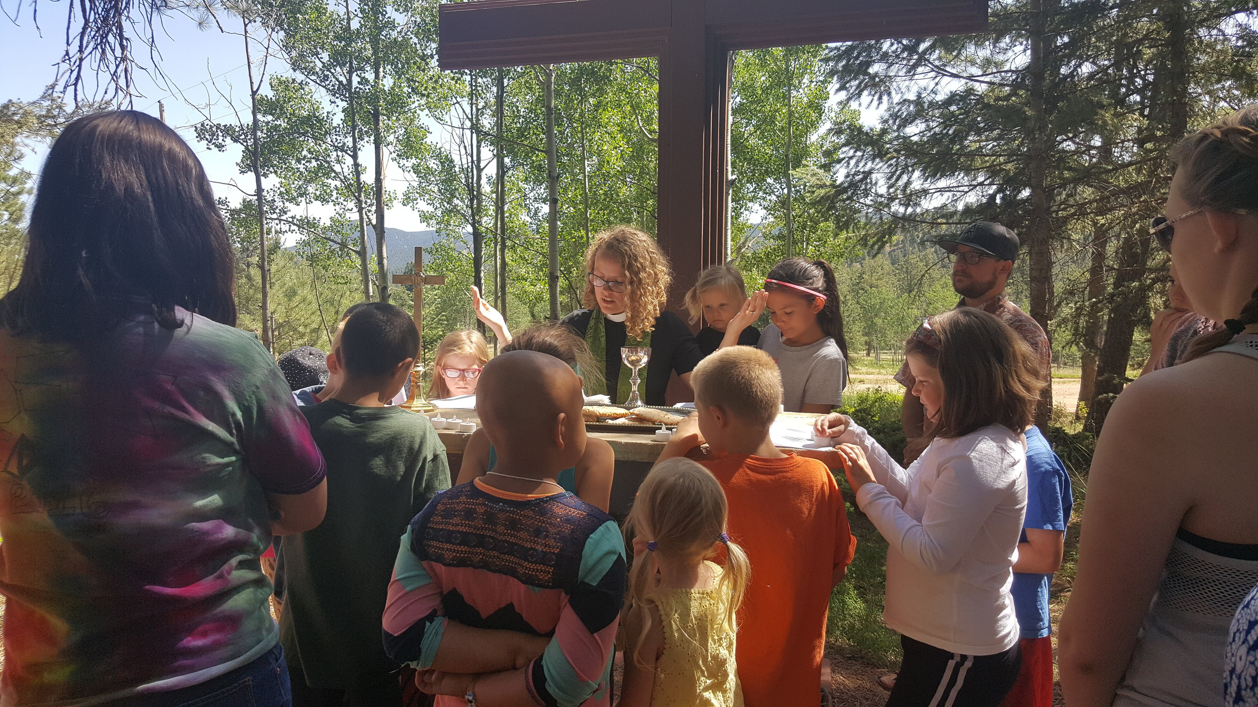 Summer camp at Cathedral Ridge with Krista Dias, Director of Community Life, Chapel of Our Saviour, Colorado Springs