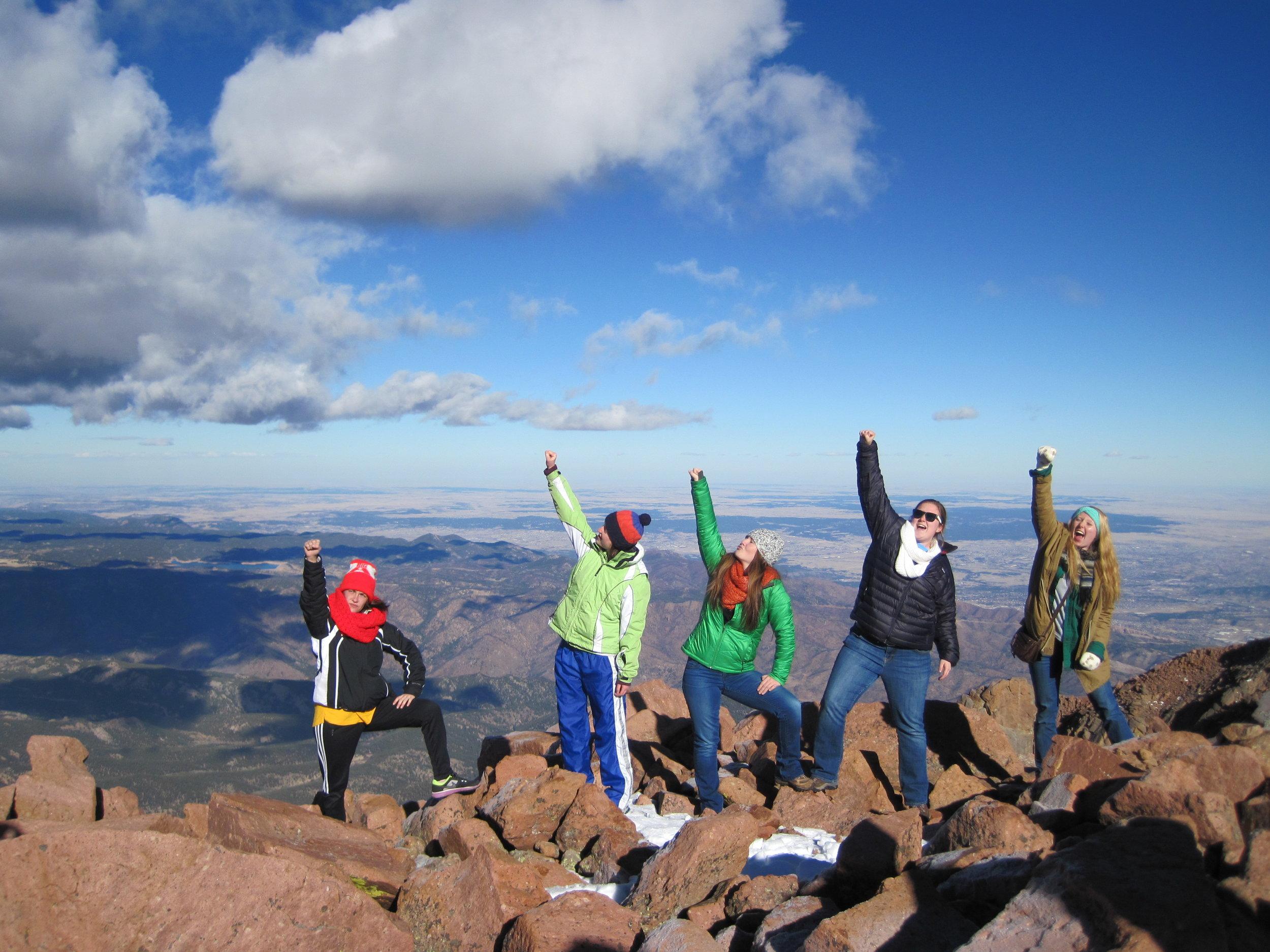 The Colorado Episcopal Service Corps Members at Pikes Peak. Photo courtesy Colorado Episcopal Service Corps
