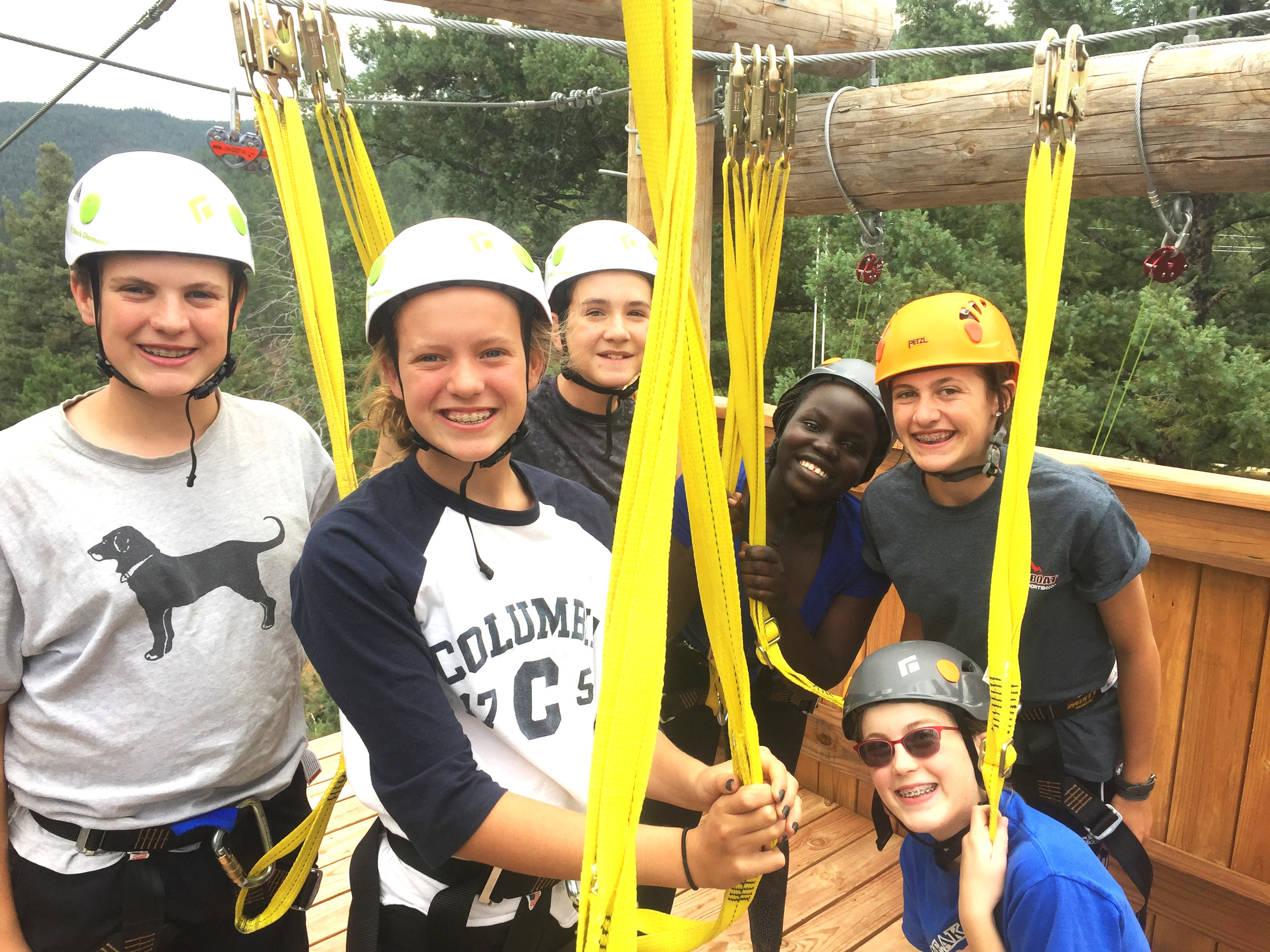 Youth at the Challenge Course at Cathedral Ridge. Photo courtesy The Reverend Kenneth A. Malcolm