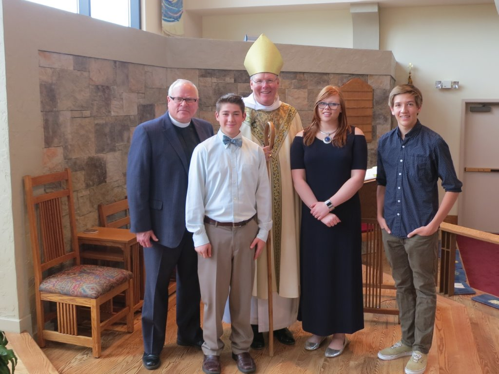 Youth at Ascension in Salida at their Confirmation.