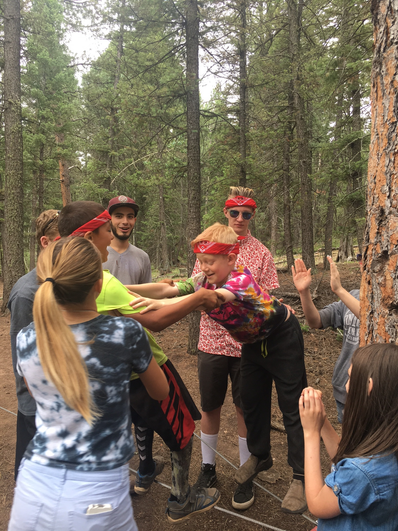Children and Youth at Cathedral Ridge Ropes Course