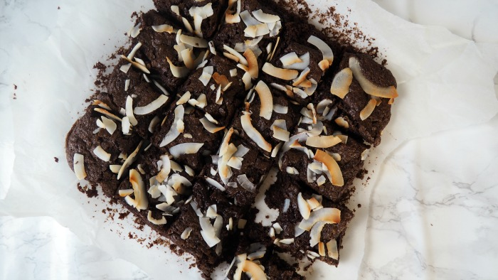 Vegan Coconut Brownies // Amy Elizabeth