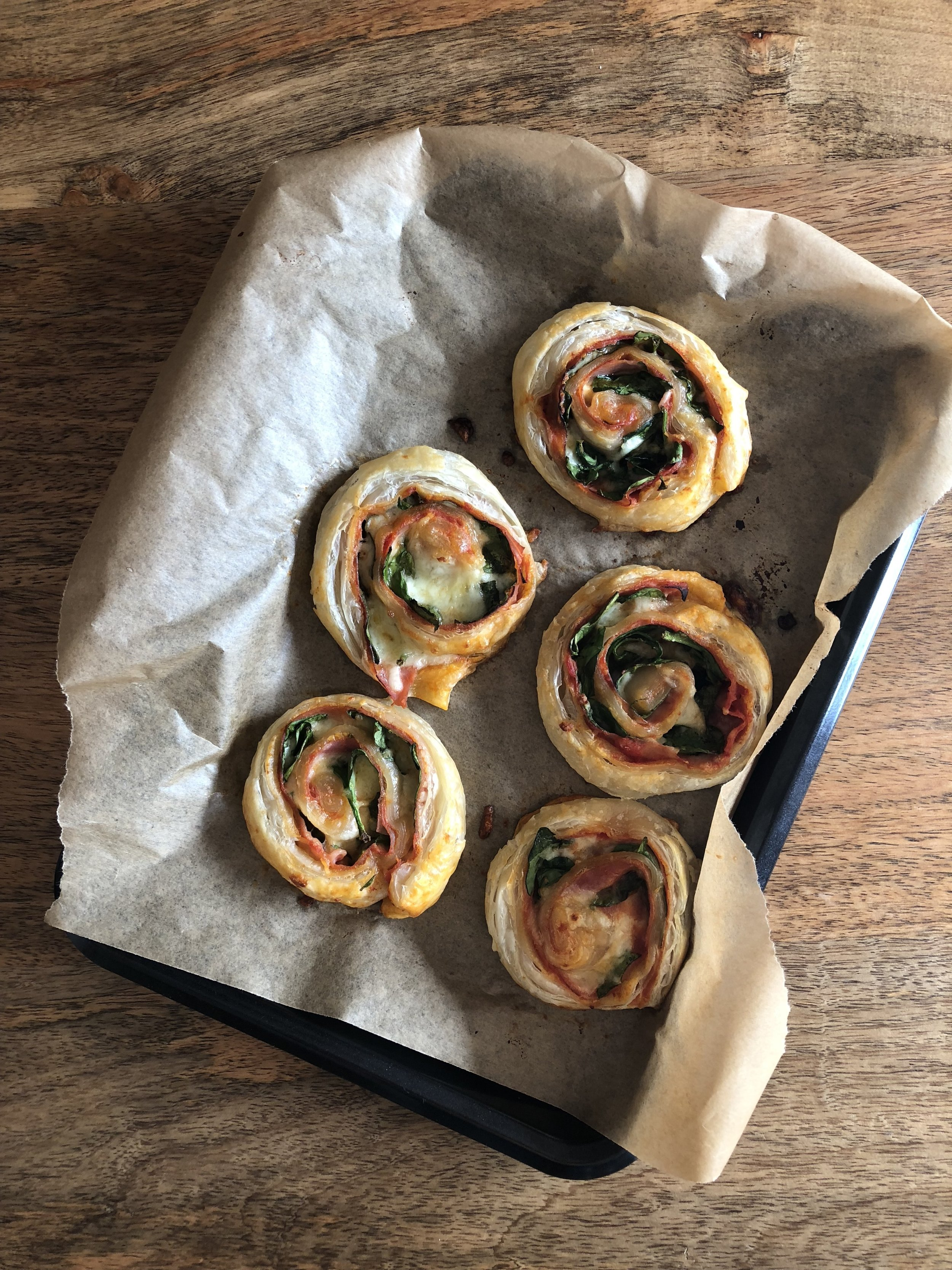 Puff Pastry Pizza Rolls