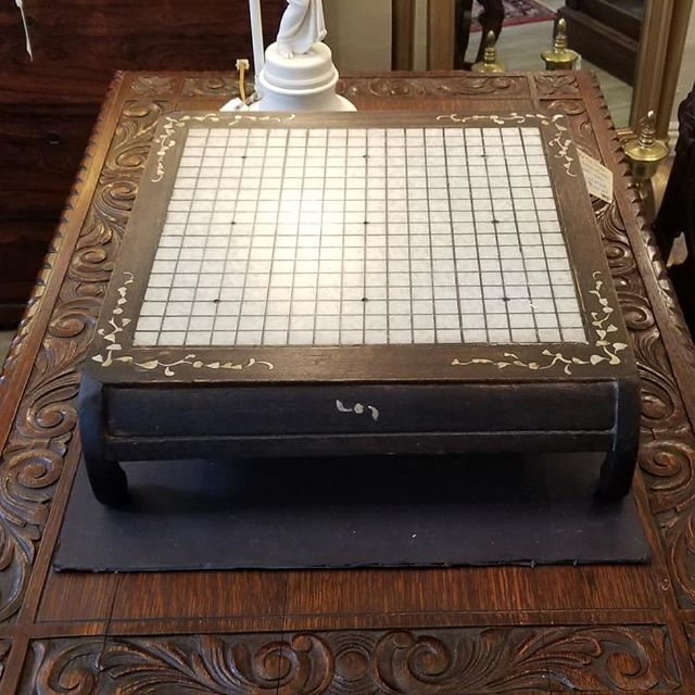 Chinese marble top Go board  FIND YOUR TREASURE #atouchofthepastantiques #atop #lambertvillenj#antiquecapitalofnewjersey#hunterdoncounty#rivertown #antiques #antiquestore #forsale#midcentury #decoratorfinds #interiors #interiordesign#midcenturymodern #italiandesign #italianmidcentury#modernglass #moderndesign #studiofurniture#modernism #modernart #homedecor#homedecoration #decorators #interiors #design#instaliving #interiorinspiration #instadecor#luxurydecor #philadelphiadesign