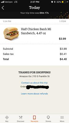 My receipt.