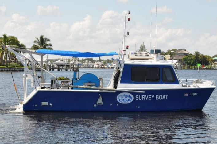 One of CSA's survey vessels working off of Tampa Bay.