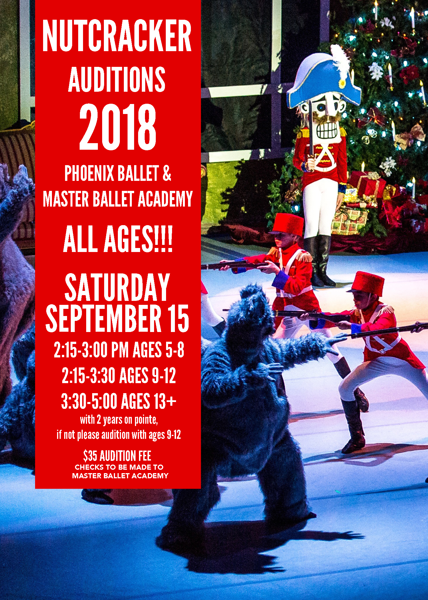 NUTCRACKER CAST PAGE - Everything you need to know about Nutcracker Rehearsals and updated information! Please check on Mondays and Wednesday for updates.