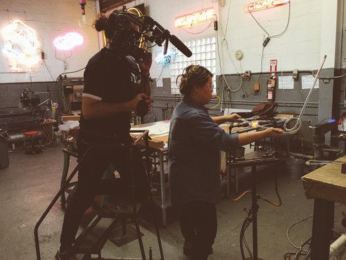 BRIC TV shoot at Brooklyn Glass