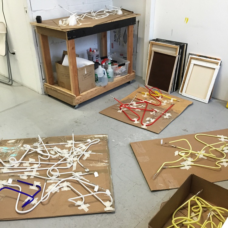 Glass, glass, glass. It's everywhere! My studio is filled up with tons of glass to prepare for my upcoming show at Parenthesis Art Space. Stay tuned for more info.