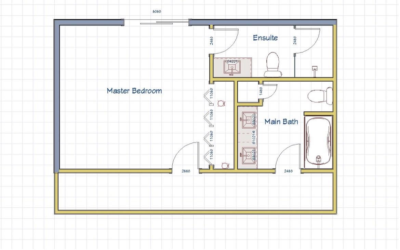 BEFORE: Upstairs floor plan