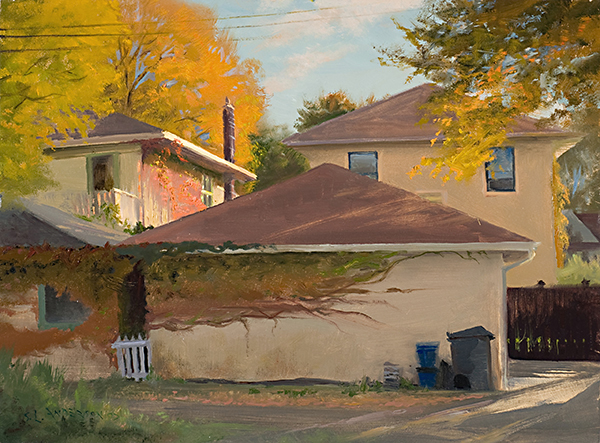 Autumn, South Minneapolis , 12 x 16 oil on panel (collection of the artist)