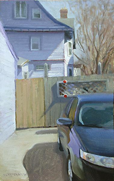 Purple House,    12 x 20 oil on panel