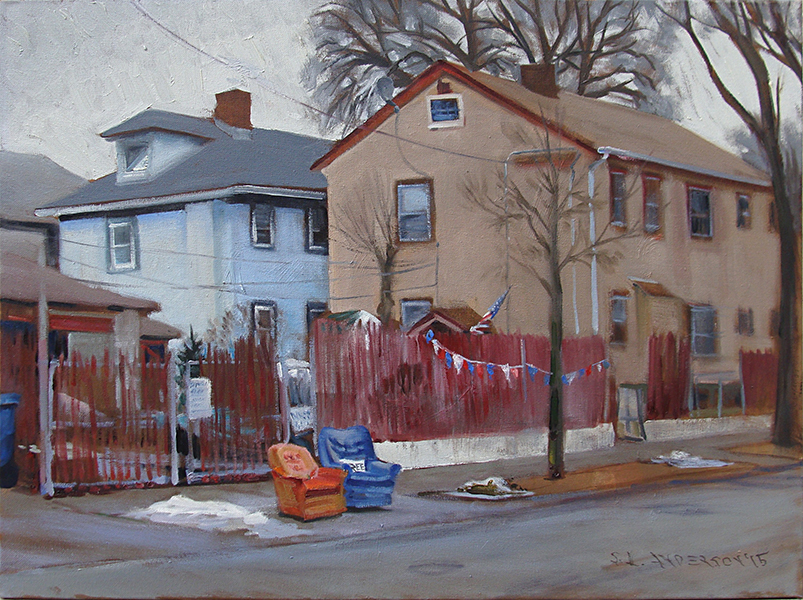 Free Chairs,  18 x 24 oil on panel