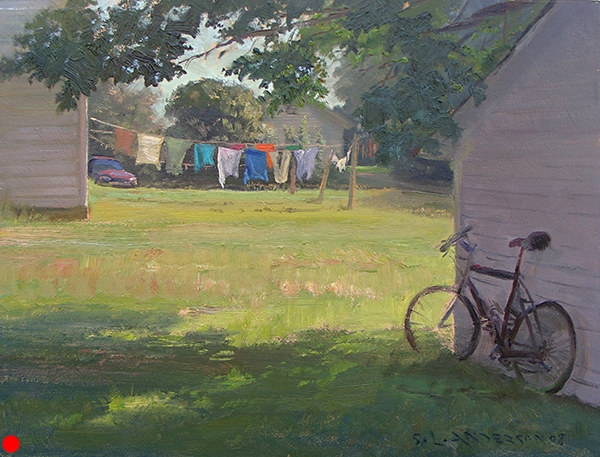 Morning Wash, Door County, Wisconsin , 12 x 16 oil on panel SOLD