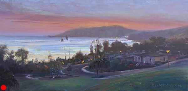 Avila Sunset , 15 x 30 oil on canvas SOLD