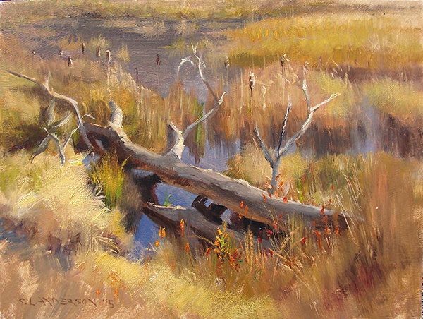 Wetland Tableau,  12 x 16 oil on panel