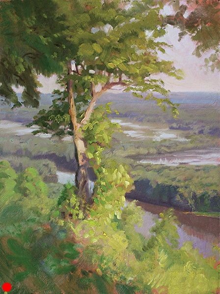 Morning Overlooking the Wisconsin River , 16 x 12 oil on panel SOLD