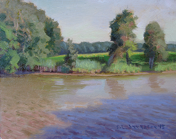 Chesapeake Bay Creek, 8 x 10 oil on panel Painted during an Easton plein air event on the eastern shore, Maryland.