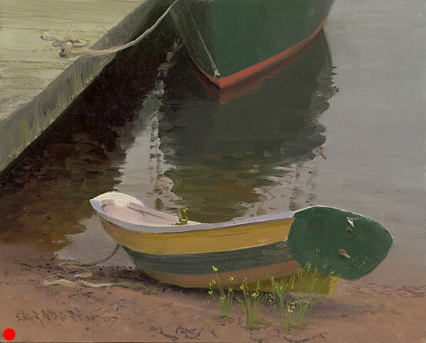 Bateau , 8 x 10 oil on panel This little darling was made by hand at the North House Folk School in Grand Marais, Minnesota. SOLD