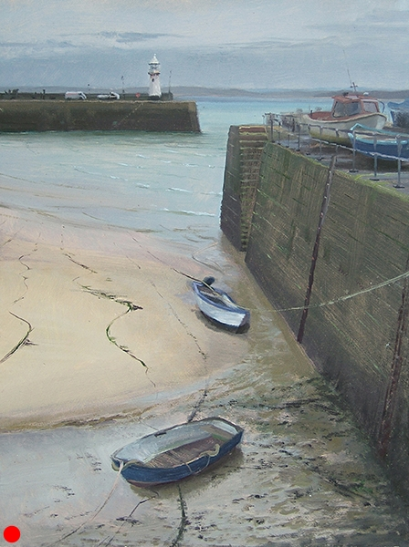 Harbor at St. Ives, Cornwall, England , 16 x 12 oil on panel SOLD