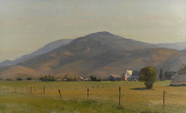 Francis, Utah , 12 x 20  oil on panel This was painted on a June morning just east of Park City.