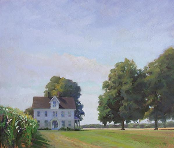 Farmhouse , 20 x 24 oil on canvas