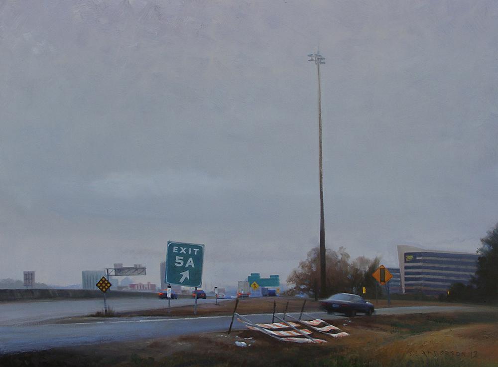 On Ramp, Burnsville  24 x 30 oil on canvas