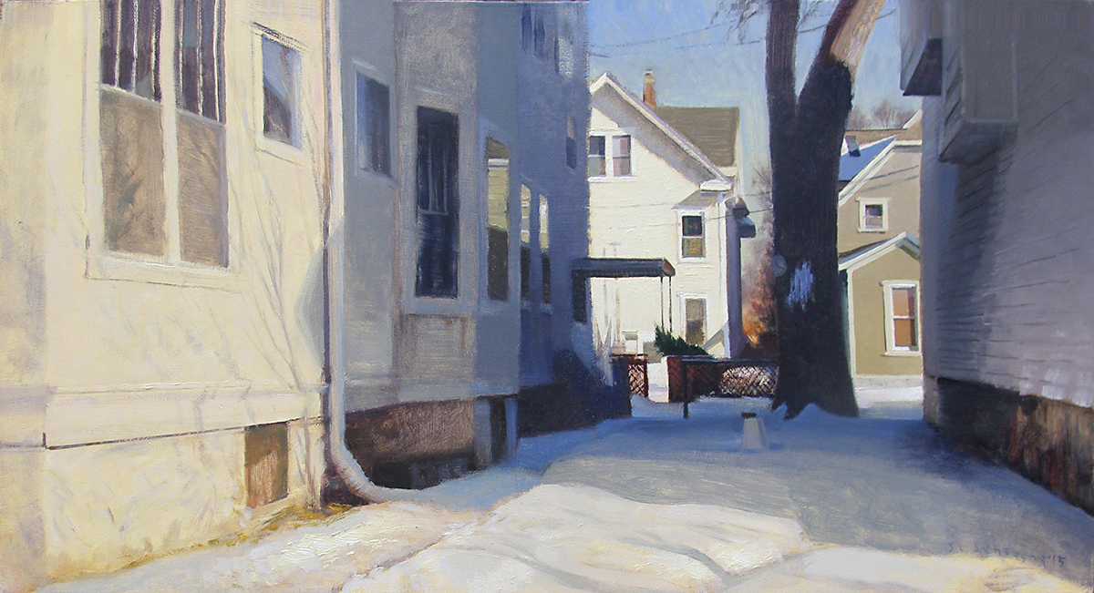 In Between  24 x 48 oil on panel