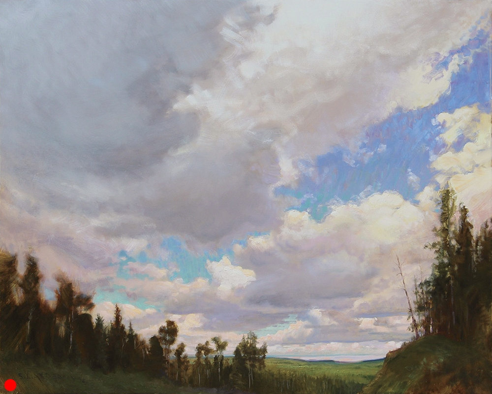 High Sun, Clouds  48 x 60 oil on canvas SOLD
