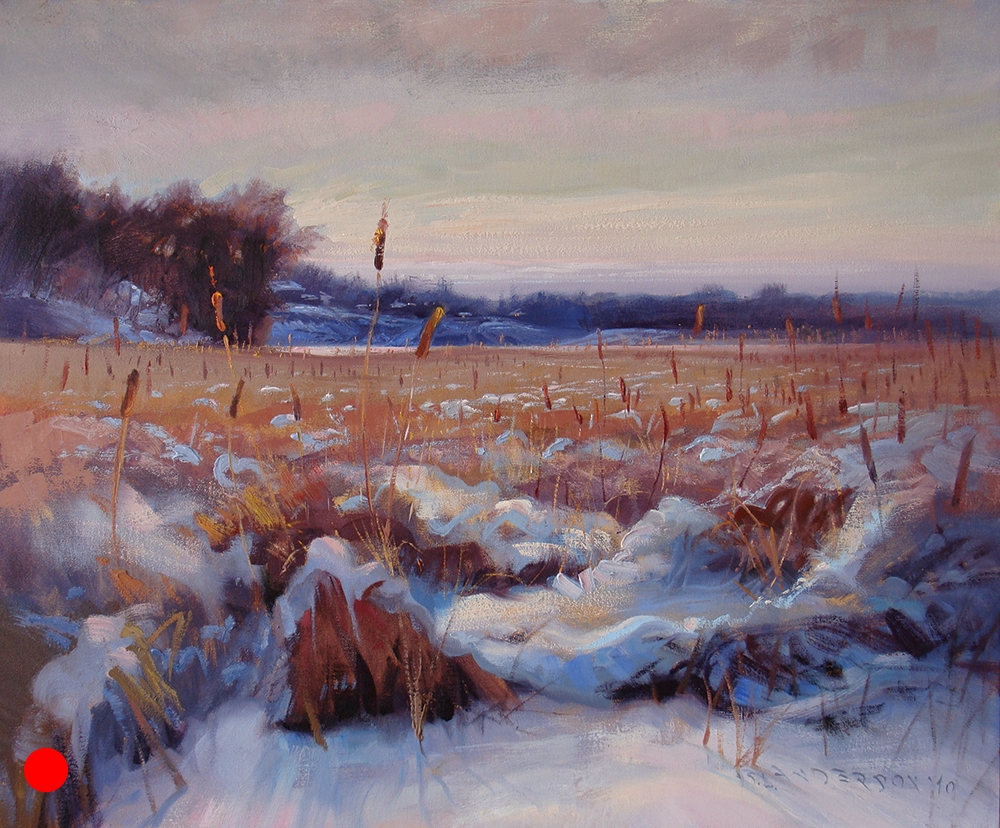 Cattails on Cedar Lake , 24 x 30 oil on canvas