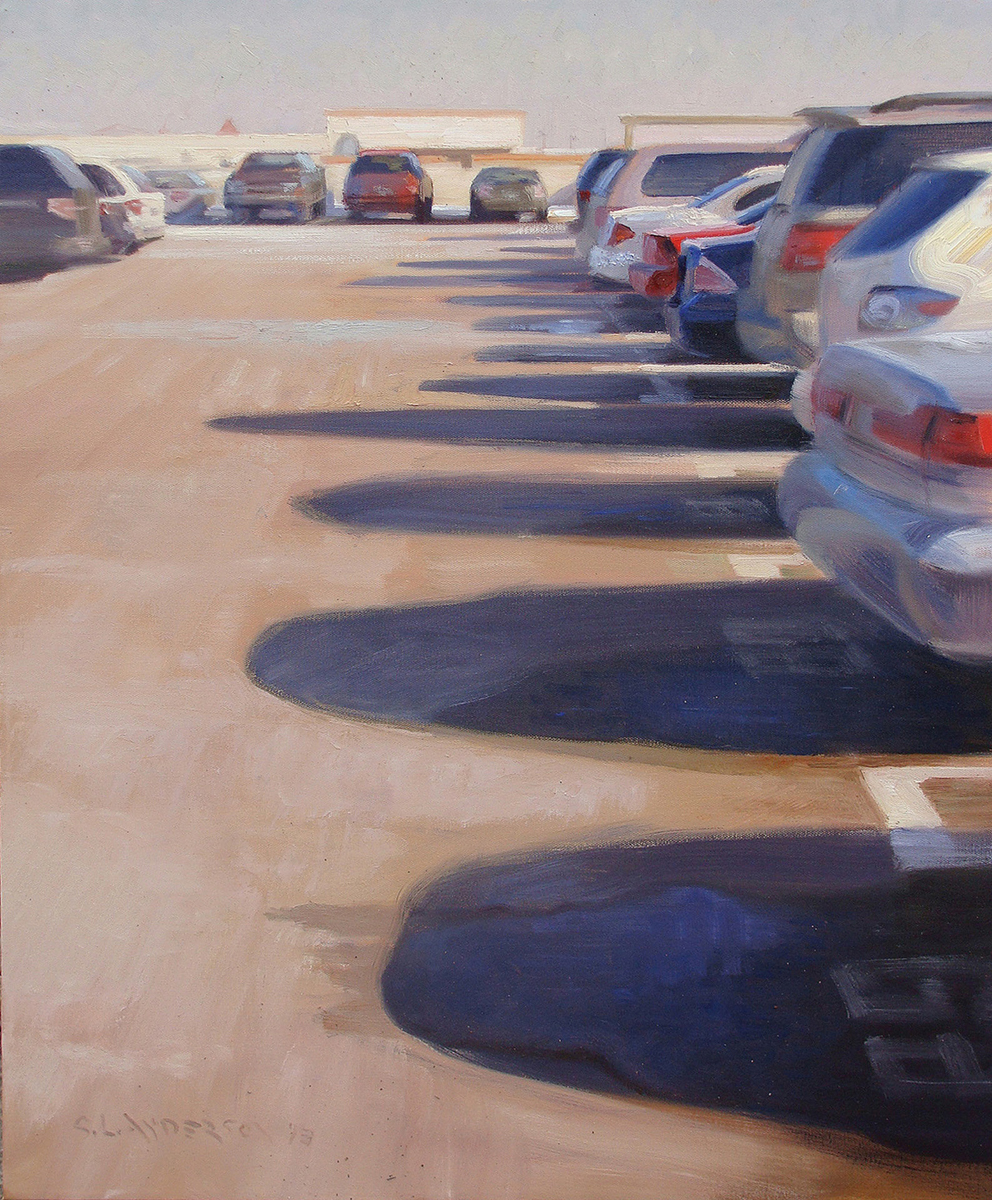 Shadows on Top of the Ramp , 30 x 24 oil on canvas 2013