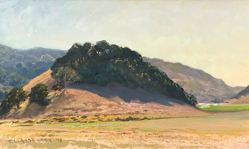 San Antonio Mountain Hills, Wine Country  12 x 20 oil on panel Painted on location at the Sonoma plein air event 2018.