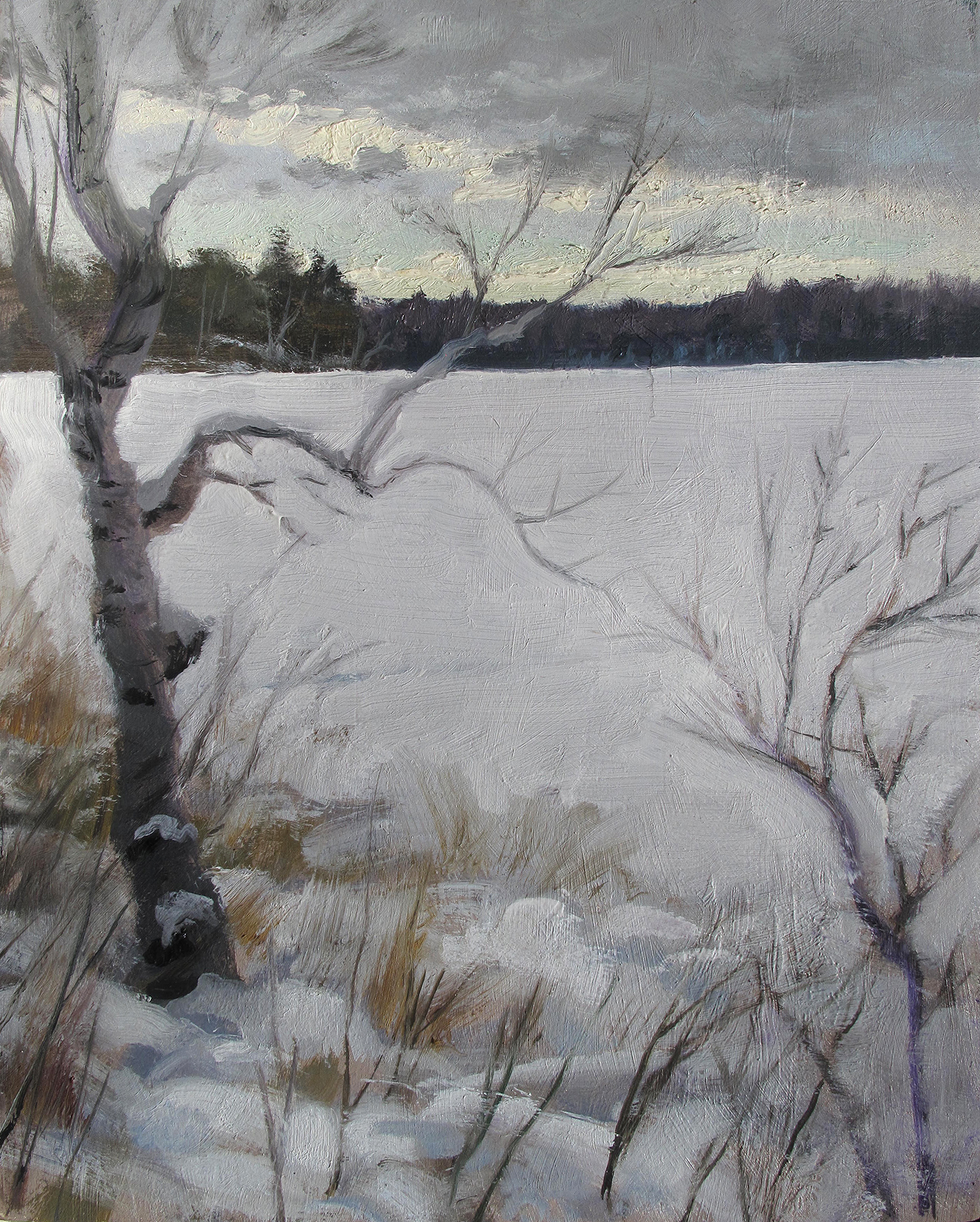 Winter Shoreline,  10 x 8, oil on panel