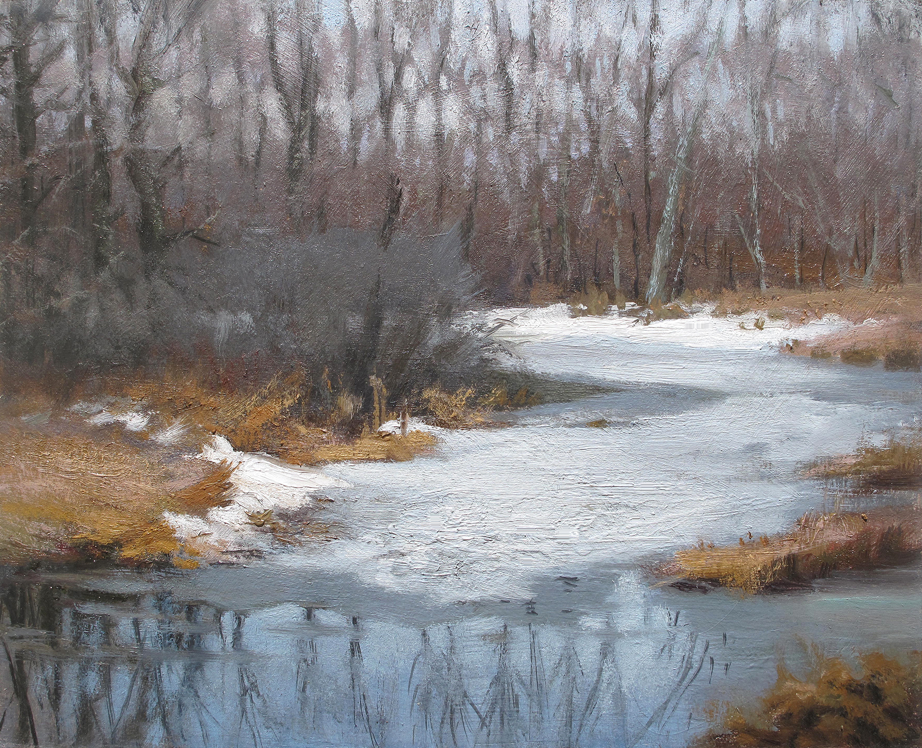 Little Icy Pond , 8 x 10 oil on panel